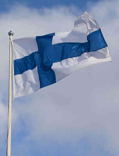 Finnish flag for 9 m pole