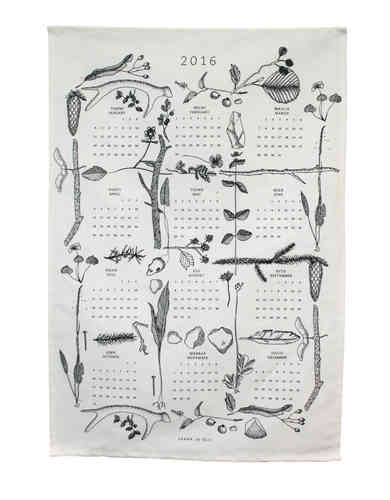Calendar towel 2016 black