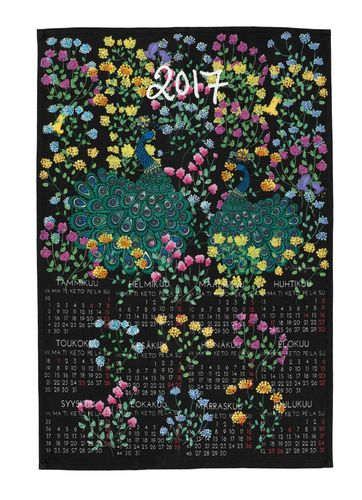 Calendar kitchen towel 2017
