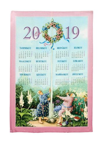 Calendar kitchen towel 2019