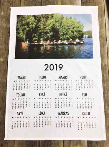 Calendar of 2019 with own picture print