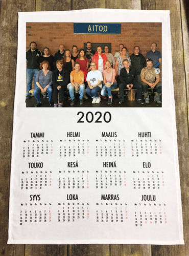 Calendar of 2020 with own picture print